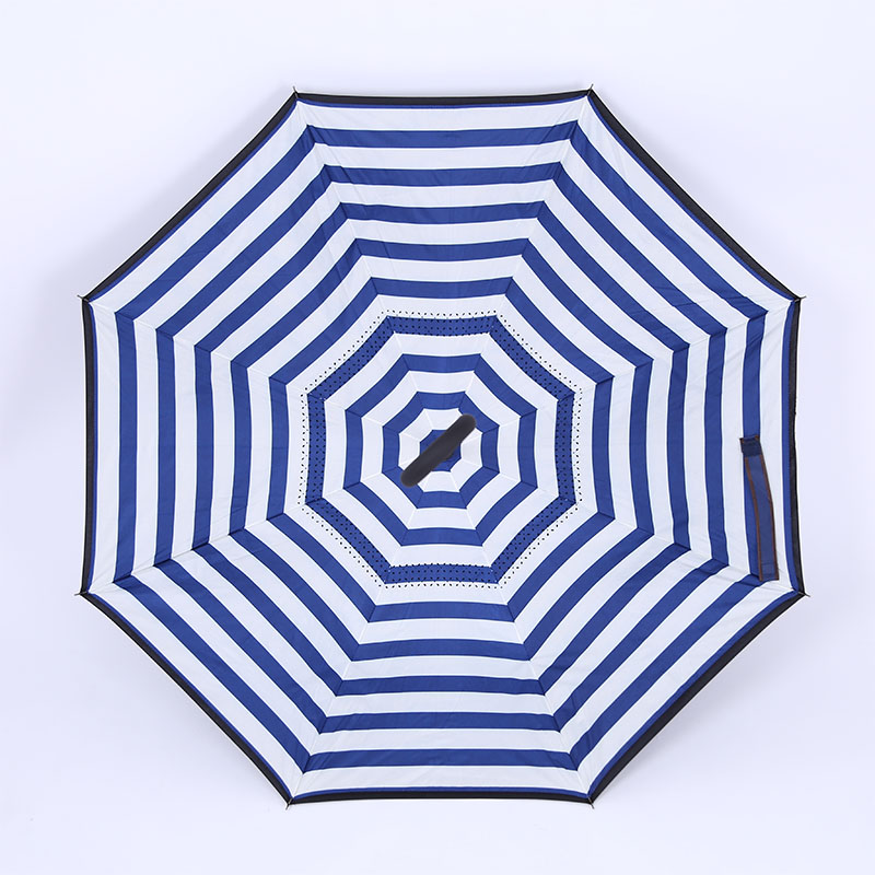 New design korea umbrella rubber tips promotional reverse umbrella with logo printing