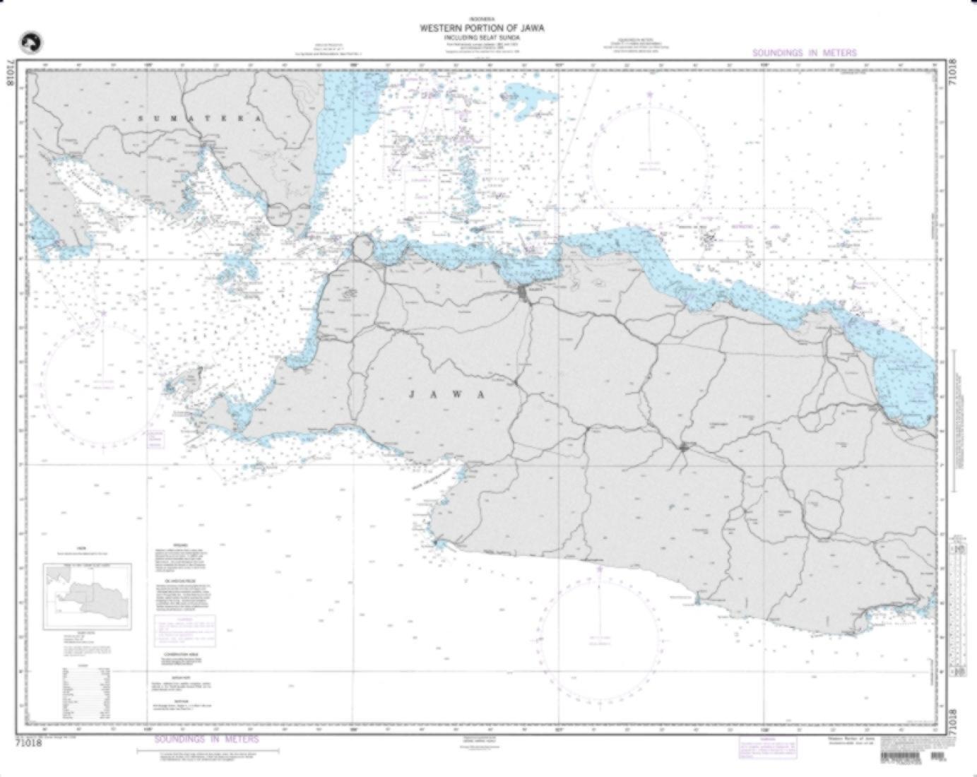 NGA Chart 71018-Western Portion Of Jawa