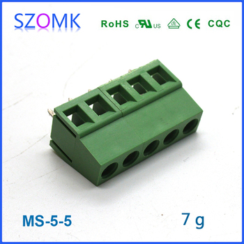 Screw Terminal Block Connector Of 5 Pins And 5mm Spacing For ...