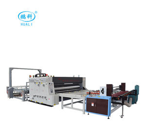 paper die cutting machine two color, corrugated cardboard 4 colors printer&slotter&rotary die cutter
