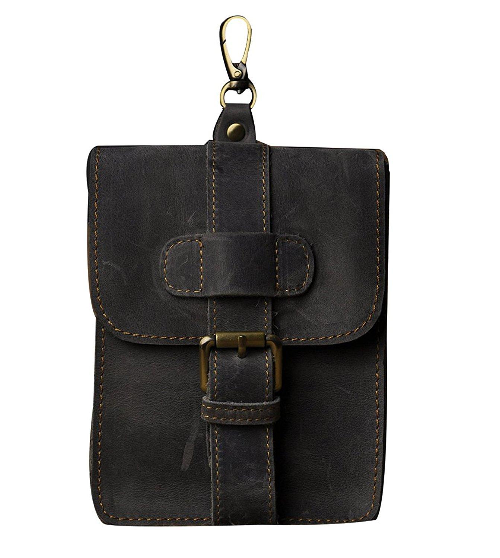 Genda 2Archer Mens Leather Belt Pouch Waist Belt Pack