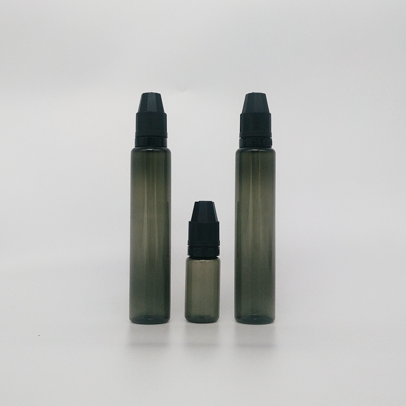 High Quality colored clear black plastic 10ml 30ml pet e liquid dropper Bottles with childproof cap