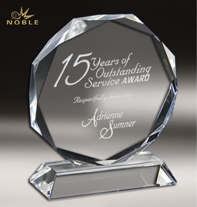 High Quality K9 Crystal Sunflower Octagon Trophy Awards