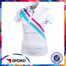 Dye sublimated ladies polo shirt