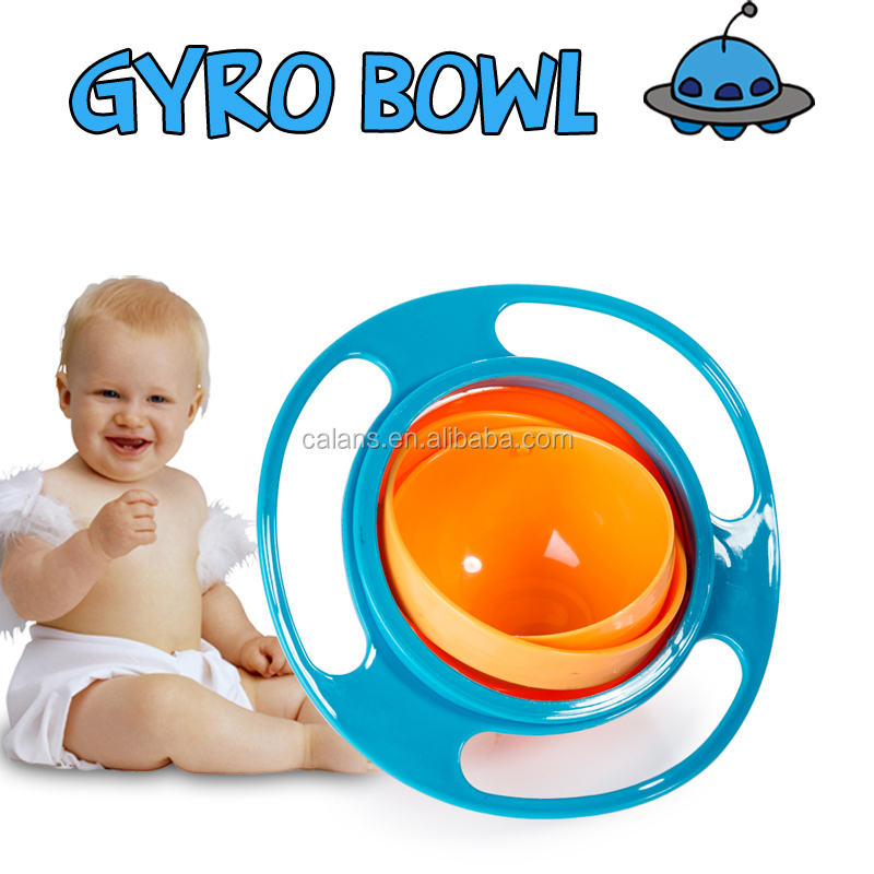 Amazon Best Seller Spill Resistant Baby Bowl Universal Gyro Bowl