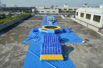 GMIF SiBo Durable Outdoor Inflatable Water Park Slide With Swimming Pool For Kidds