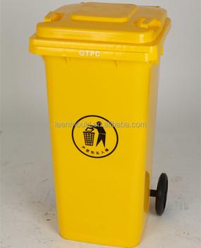 Taizhou Gelb 120 Liter Mülleimer,Kunststoff Fußpedal