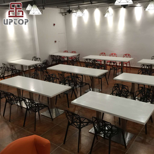 (SP-CS386) Cheap fast food furniture , canteen furniture , tables and chairs for restaurant