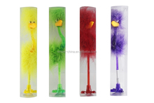hotselling Yes novelty ostrich shape feather pen/feather bird pen