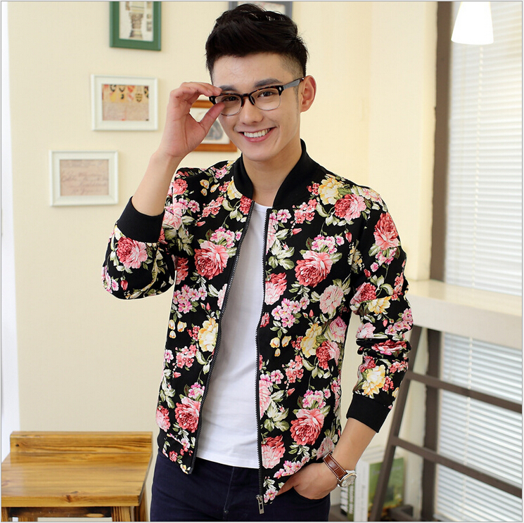 f468bb15e22c7 Flower Baseball Jacket | Outdoor Jacket