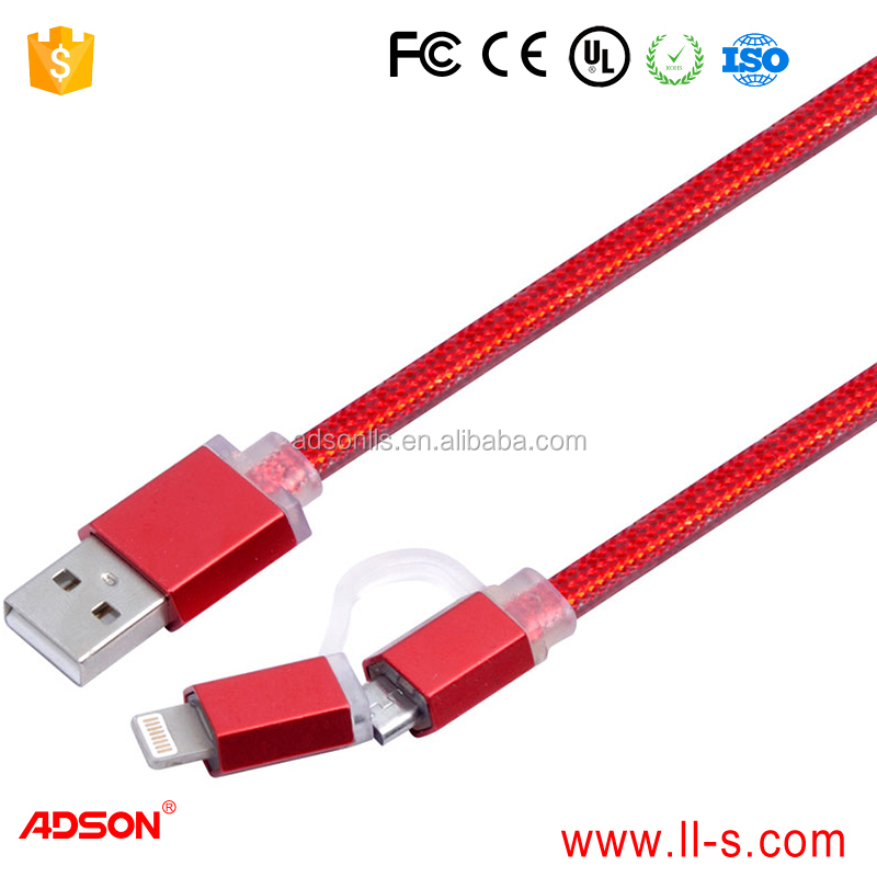 Micro-USB USB Type and Mobile Phone Use flat wire power cord cable