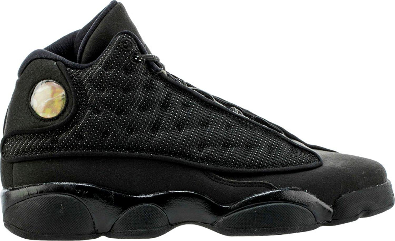 Nike Air Jordan 13 Retro Black Cat 2017 GS Big Kids Youth Black Anthracite 884129-011 (5.5)