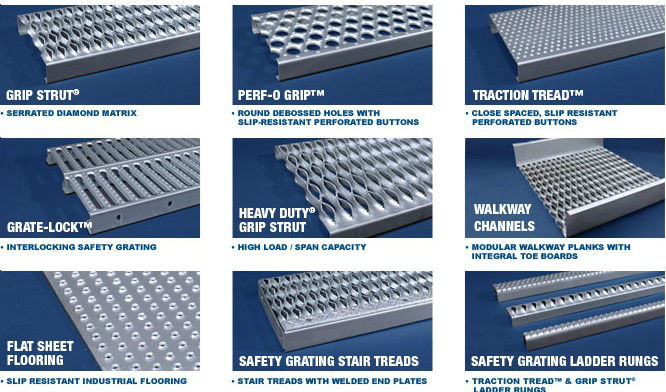 Anti Skid Stair Tread Safety Grating Stair Tread