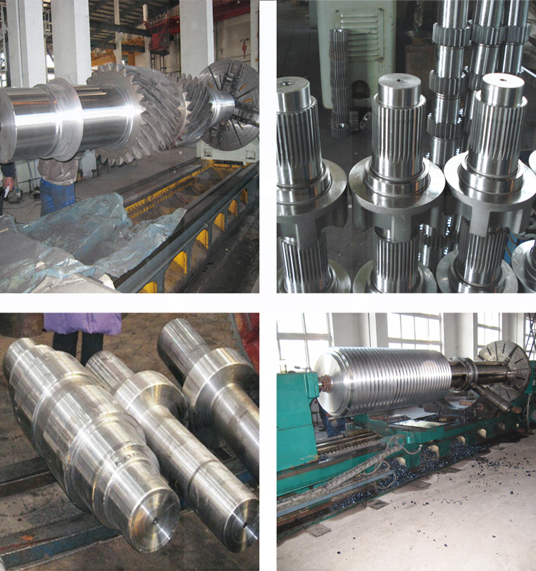 Densen customized super large steel forging gear driving spline shaft,types of transmission shaft,transmission gear shaft