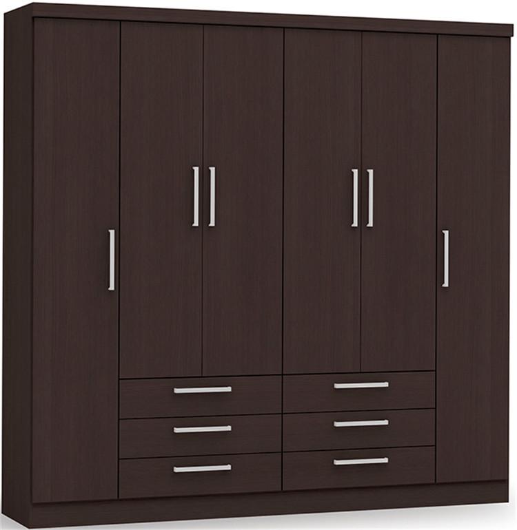 Morden Design 6 Door Wooden Wardrobe