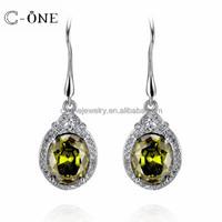 925 Sterling Silver Turquoise Chandelier Round Earrings,Dangle Long Earrings Wholesale