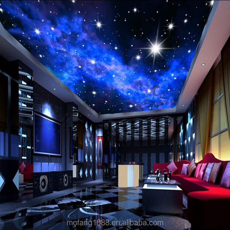 Blue Night Sky Bedroom Starry Ceiling 3d Wallpaper View Wallpaper For Ceilings Mofang Product Details From Shenzhen Mofang Mural Material Co Ltd