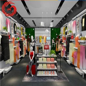 Moderne Magasin De Vêtements Décoration Pour Vêtement Design Du0027intérieur ...