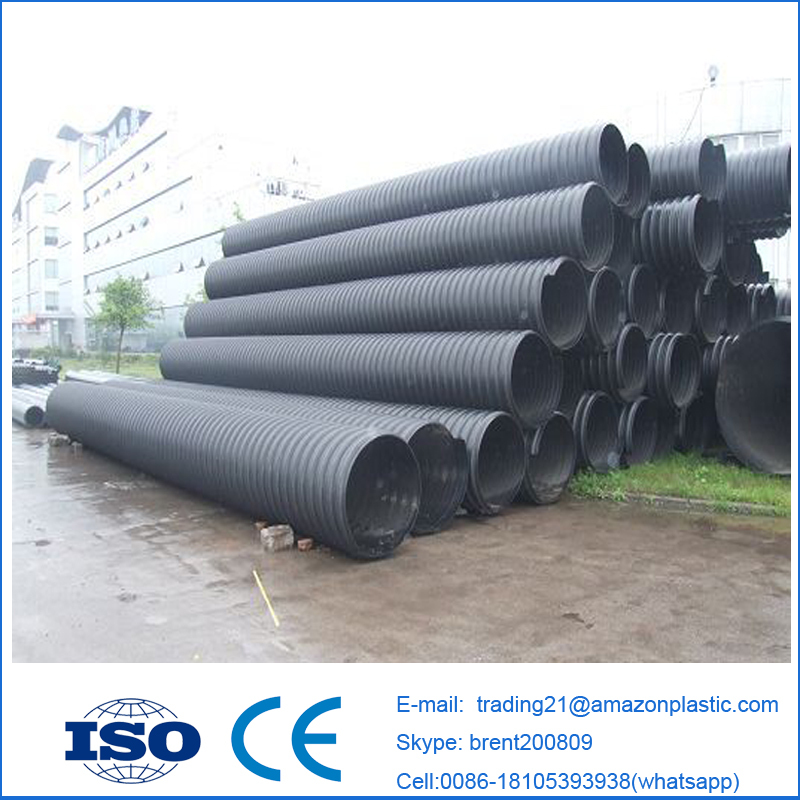 Sn10 Hdpe Water Drain Pipe Metal Reinforced Pe Spirally