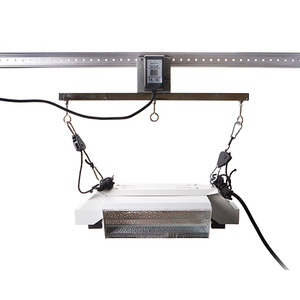 Hydroponic Indoor Garden Greenhouse Removable Adjustable Grow Light Rail System HID Light Mover