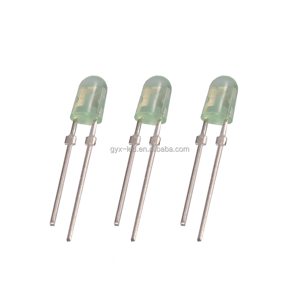 Rohs compliant high brightness green led 3mm oval