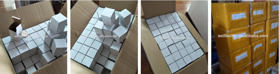 Cilindro de frasco de vidrio con tapa de vidrio tapa de silicona para el almacenamiento de alimentos 129E