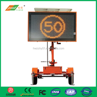 Buy Full Matrix LED Solar Powered Portable Variable Message Signs ...