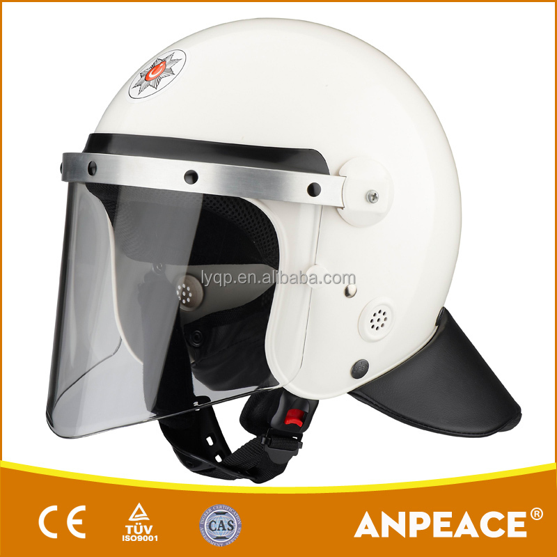 Impact-resistant PC/ ABS injection molding process OEM/ODM anti riot helmet