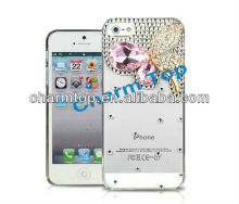 Butterfly Diamond Plastic Case For apple iphone 5
