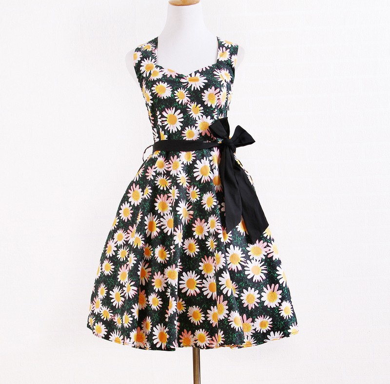 customized vintage retro clothing dropship plus size floral A line dress for <strong>women</strong>
