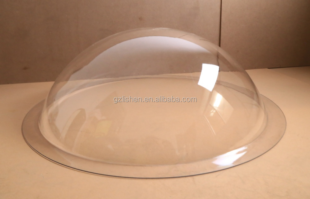 Transparent Plastic Hemisphere Geodesic Domed Clear