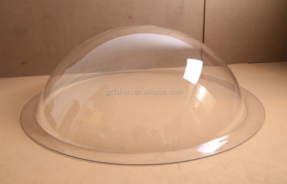 Transparent Plastic Hemisphere Geodesic Domed Clear