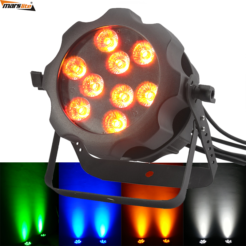 Factory wholesale! outdoor dmx 6in1 rgbawuv 9pcs 18w waterproof led par can lights ip65