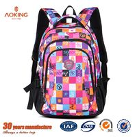 Popular cute polyester black large capacity school bags very young models for kids/.