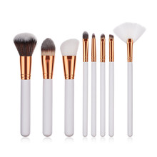 New 8pcs wood ds cosmetics brushes organic make up brushes