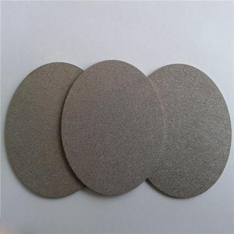 Black 304 Stainless Steel Wire Mesh Sintered Metal Filter Disc