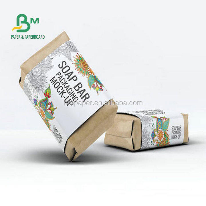 Woodfree Paper 80GSM + PE 15GSM To 20GSM For Candles & Hotel Soap Packing