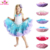 Girls' Fluffy Tulle Pleated Tutu Skirt Princess Ballet Dance Tiered Baby Party Pettiskirt