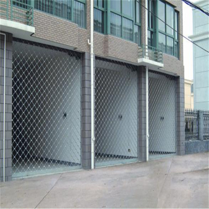 Electric roll up garage doors of wire mesh door with for 50x100 garage