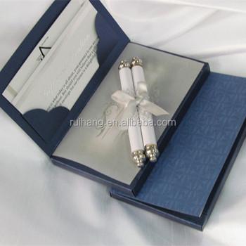 Luxury Paper Scroll Wedding Invitation Card with_350x350 luxury paper scroll wedding invitation card with decorative box,Luxury Invitation Cards