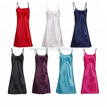 Femme Homme Sexy simplicity femme homme sexy silky satin chemise nightgown lingerie