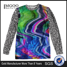 New Fashion Brand Long Sleeve Cotton Printed T Shirts Mixed Color And Size