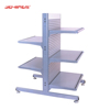 Factory Direct Sale Silver aluminum slat wall Display Shelving