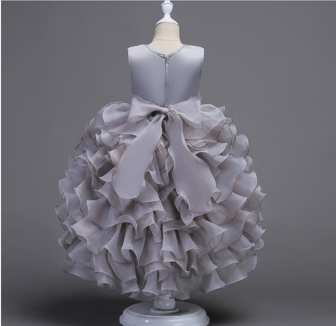 2019 New Fashion Light Blue Lace Wedding Dress For