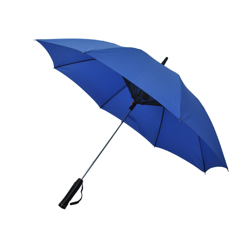 Custom Promotional Umbrella with Fan Installed Battery Straight Umbrella