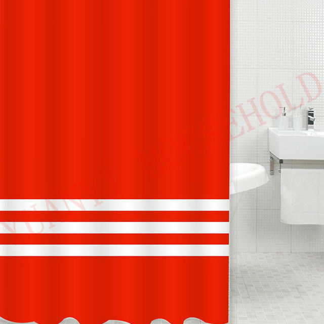 Dorable Solid Red Shower Curtain Adornment - Bathroom with Bathtub ...