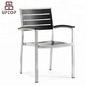 (SP-OC721) Wholesale dining cafe outdoor aluminum chair wood