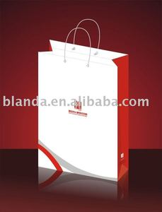100% pure wood pulp paper shopping bag