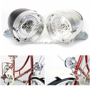 2018 Traditional Bicycle Bike 3 LED Front Light Headlight Vintage Flashlight Lamp