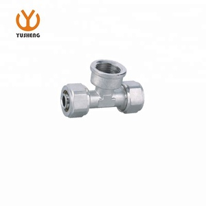 Brass Compression Tube Fitting Tee Union